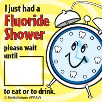 Fluoride Shower Stickers