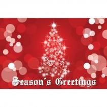 Season's Greetings Lit Tree Greeting Cards
