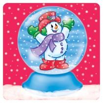 Snowman Snowglobe Stickers
