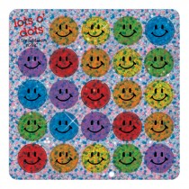 Sparkle Multicoloured Smiley Face Mini Stickers