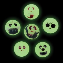 Glow in the Dark Skull Bouncing Balls