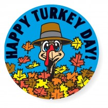 Happy Turkey Day Stickers