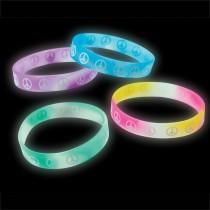 Glow In The Dark Peace Sign Bracelets