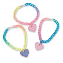 Rainbow Heart Charm Bracelet