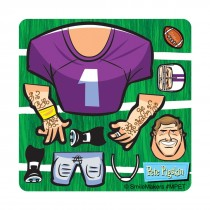 Make-Your-Own™ Football Player Stickers