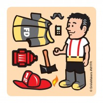 Make-Your-Own Fireman Stickers