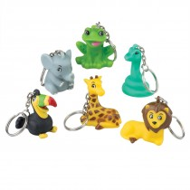 Jungle Friends Backpack Keychains