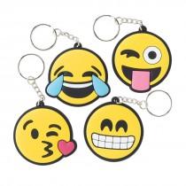 Emoji Rubber Backpack Keychains