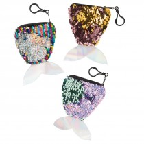 Mermaid Reversible Sequin Coin Purses