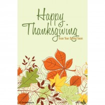 Happy Thanksgiving Dental Recall Cards