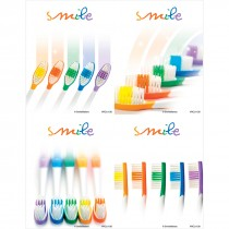 Smile Rainbow Toothbrushes Laser Cards