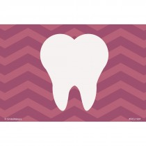 Purple Chevron Tooth Recall Cards