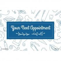 White Dental Sketch Recall Cards
