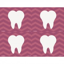Purple Chevron Tooth Laser Recall Cards