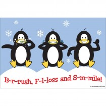 Brush Floss Smile Penguin Recall Cards