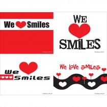 We Love Smiles Assorted Laser Cards