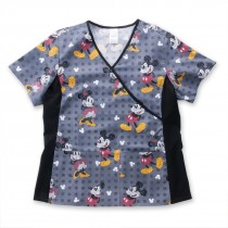 Mickey Mouse® Text Me Scrub Top