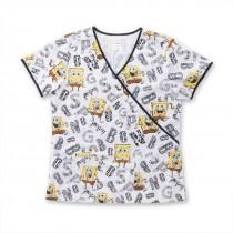 SpongeBob® Animal Pants Scrub Top