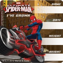 SpiderMan™ I've Grown Stickers