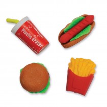 Fast Food Erasers