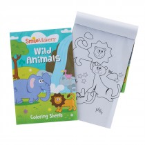 SmileMakers Wild Animal Coloring Book