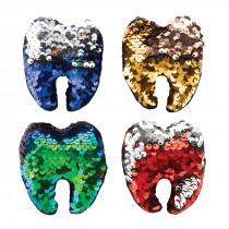 Reversible Sequin Glitter Plush Tooth
