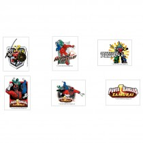 Power Ranger Temporary Tattoos