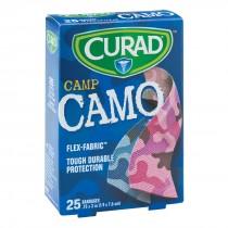 Curad® Pink/Blue Fabric Camo Bandages