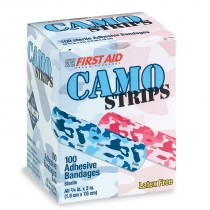 First Aid Pink and Blue Camouflage Bandages