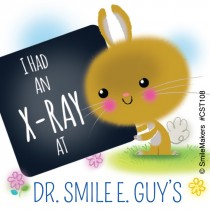 Custom Bunny Had an X-Ray Stickers