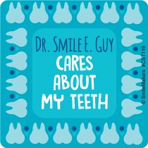Custom Dentist Cares About Teeth Stickers