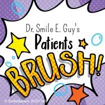 Custom Dental Brush Stickers