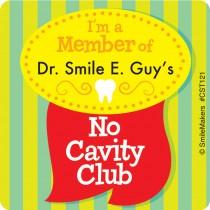 Custom Dental No Cavity Club Sticker