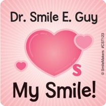 Custom Dentist Loves My Smile Stickers
