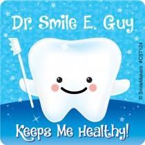Custom Dentist Keeps Me Healthy Stickers