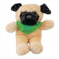 "Plush 8"" Pug with Custom Bandanas"