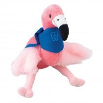 "Plush 8"" Pink Flamingos with Custom Bandanas"