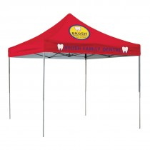 10ft Square Tent, Full Color Imprint - 2 locations