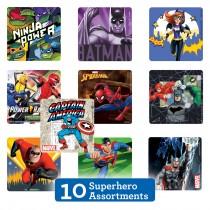 Superhero Sticker Sampler