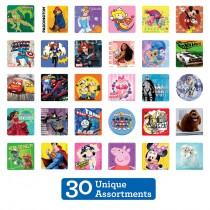 SmileMakers Licenced Sticker Sampler