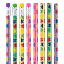 Glitter Rainbow Teeth Pencils