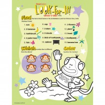 Brush Floss Smile Monkeys Look-For-It Activity Sheets