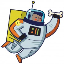 Silly Space Boy Astronaut Wall Cling