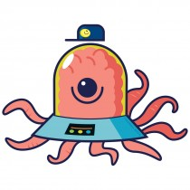 Silly Space Creature Wall Cling