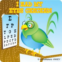 Animal Eye check Stickers