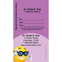 Custom 3D Smile with Glasses Sticker Appointment Cards