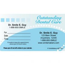Custom Outstanding Dental Care Appointment Cards