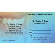 Custom White Smile Appointment Cards