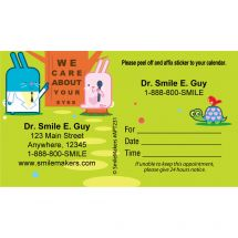 Custom Eye Care About You Bunny Appointment Cards