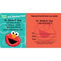 Custom Elmo Sticker Appointment Cards